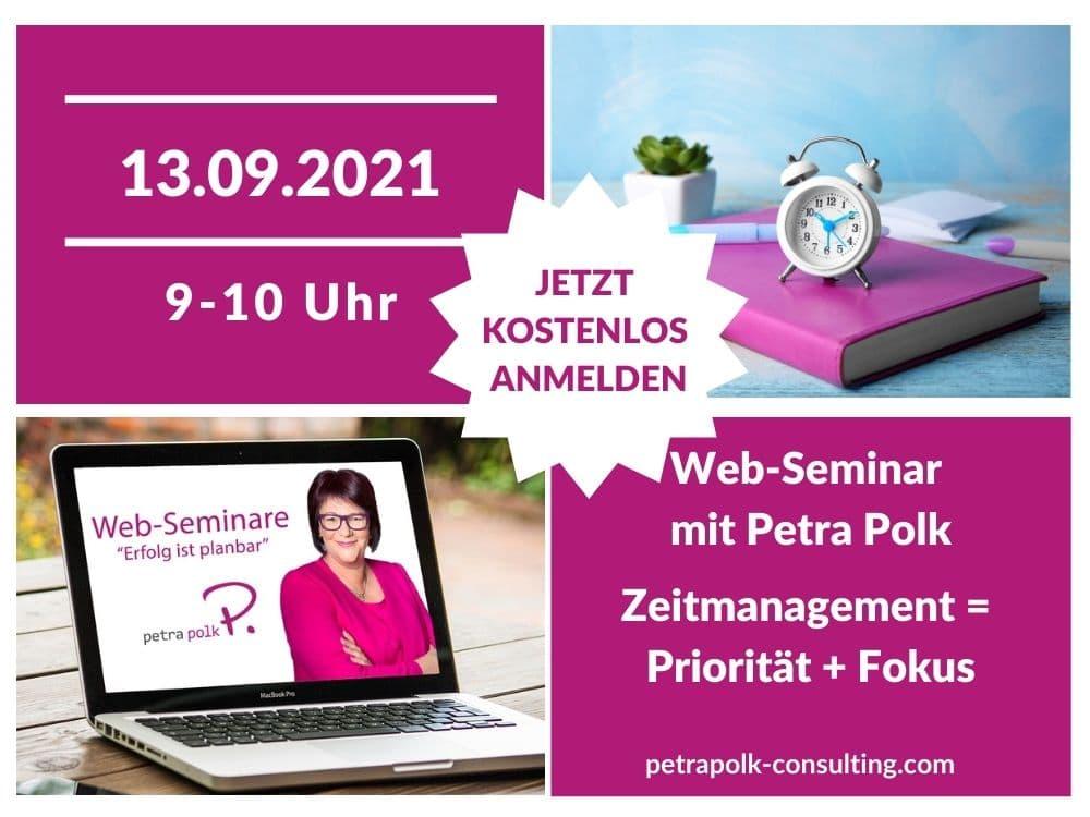 Web-Seminar mit Petra Polk